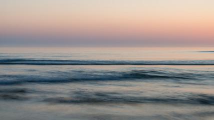 Poster Salmon Beautiful colorful vibrant sunrise over low tide beach landscape peaceful scene