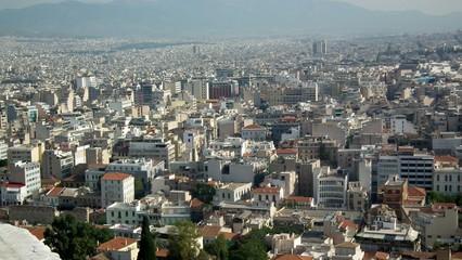Widok z Akropolu na Ateny