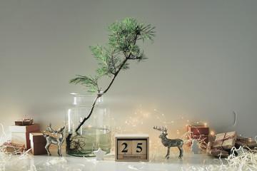 Christmas eco friendly home decor concept