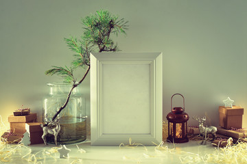Vintage style Christmas home decor concept
