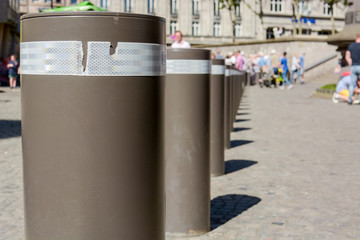 bollard at public square to protect citizens from terror attack