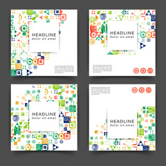 Abstract color brochure