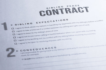 Sibling Peace Contract. To stop the fighting in its tracks.
