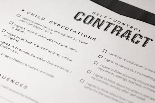 Self-Control Contract. extra work on certain behavior problems that cause them to lose some of their self-control