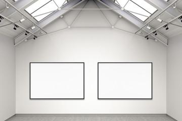 Empty gallery interior