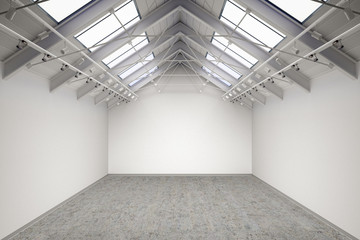 Empty gallery interior
