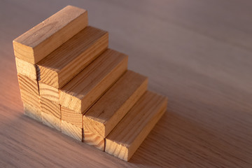 stairs with wooden blocks construction game children