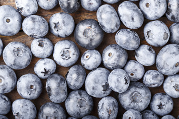 blueberry scattered as a background