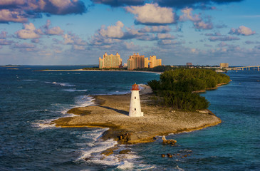 Lighthouse on Paradise island, Bahamas