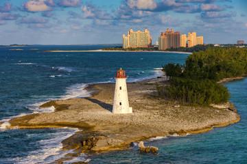 Lighthouse on Paradise island, Bahamas