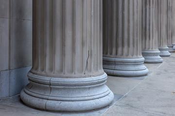 Massive columns of classic building