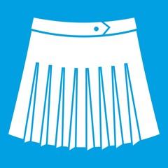 Tennis female skirt icon white isolated on blue background vector illustration