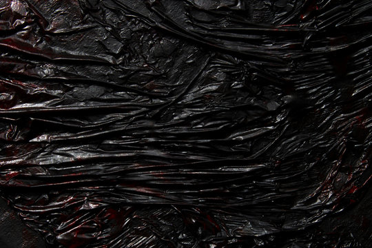 Black lava texture background