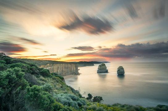 Twelve Apostles during  sunrise
