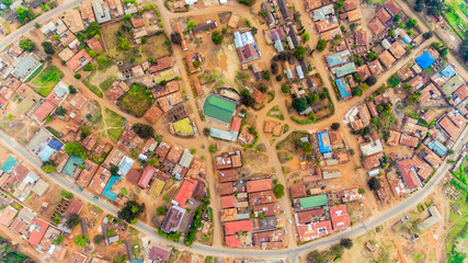 aerial view of Morogoro town