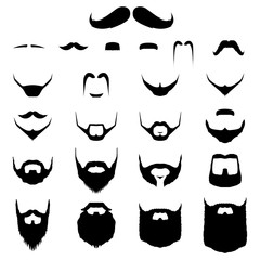 Set of Mustache and Beard Variation