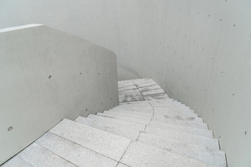 Modern city architecture, stairs, white background