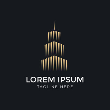 Logo template real estate, apartment, bulding, condo, house, rental, business. brand, branding, logotype, company, corporate, identity. Clean, modern and elegant style design