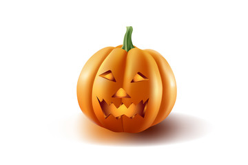 Halloween pumpkin looks awesome from a white background.