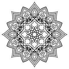 Oriental filigree mandala.