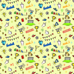 colorful football doodles