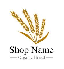 麦のロゴと文字