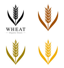 麦のアイコン・ロゴ set