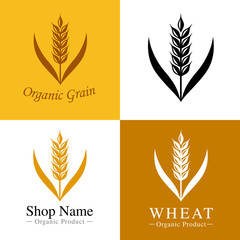 麦のロゴ set