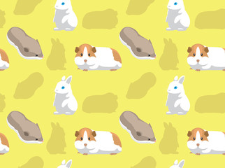Rodent Pet Seamless Wallpaper 5