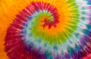 8cb6db23 Red Tie Dye Arm Swirl Background Rainbow Hippie Pattern