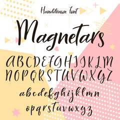 Hand drawn letters. Lettering and custom typography for your designs.Vector type