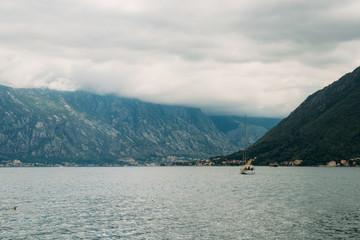 Veiw from Perast town to boko-kotor bay. Montenegro