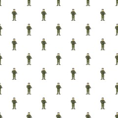 Soldier with weapons pattern seamless repeat in cartoon style vector illustration