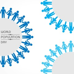 Illustration,Poster Or banner for World Population day