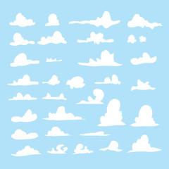 cloud vector collection design