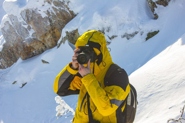 Winter photography in the mountains