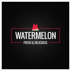 watermelon border logo on black background