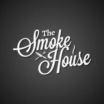 smokehouse vintage lettering on black background