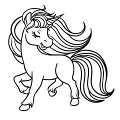 Cute magical unicorn.