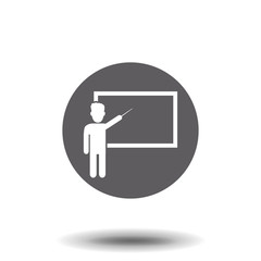 Teacher icon in trendy flat style isolated on background. page symbol for your web site design Teacher icon logo, app, UI. Vector illustration.