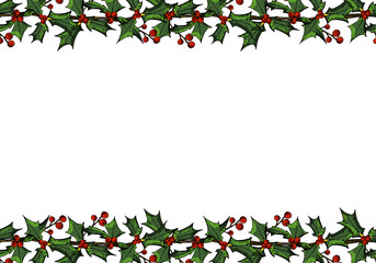 Cover template with xmas flowers for brochures, posters, banners, postcard.