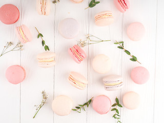 Canvas Prints Macarons Colorful macaroons, Colorful french dessert, traditional french colorful macarons in a rows in a box