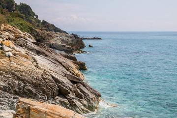 Lungomare di Varazze, Mar Ligure, Savona, Liguria, Italia