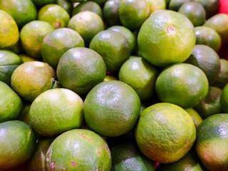 close up lemon in the market
