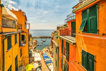 street of Italian sea town