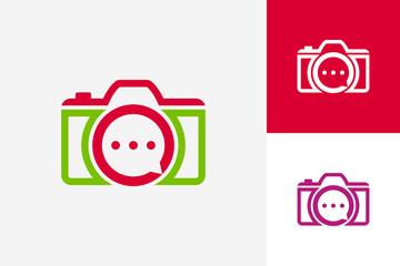 Consult Camera Logo Template Design Vector, Emblem, Design Concept, Creative Symbol, Icon