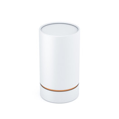 White paper tube tincan Mockup packaging box, 3d rendering