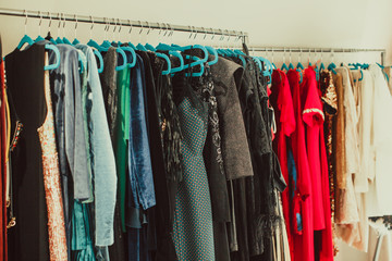 Wardrobe for a fashionable woman