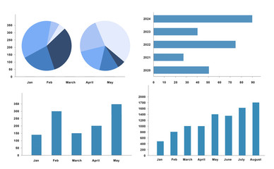 business finance graph chart 3d illustration