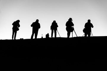 Photographers at dawn
